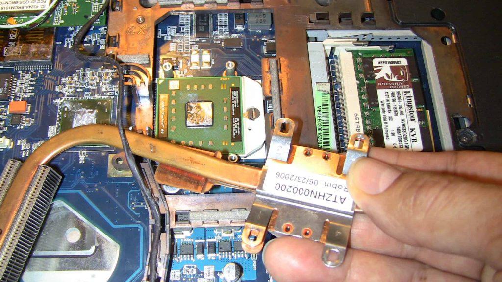 Disipador de calor de una laptop o portátil