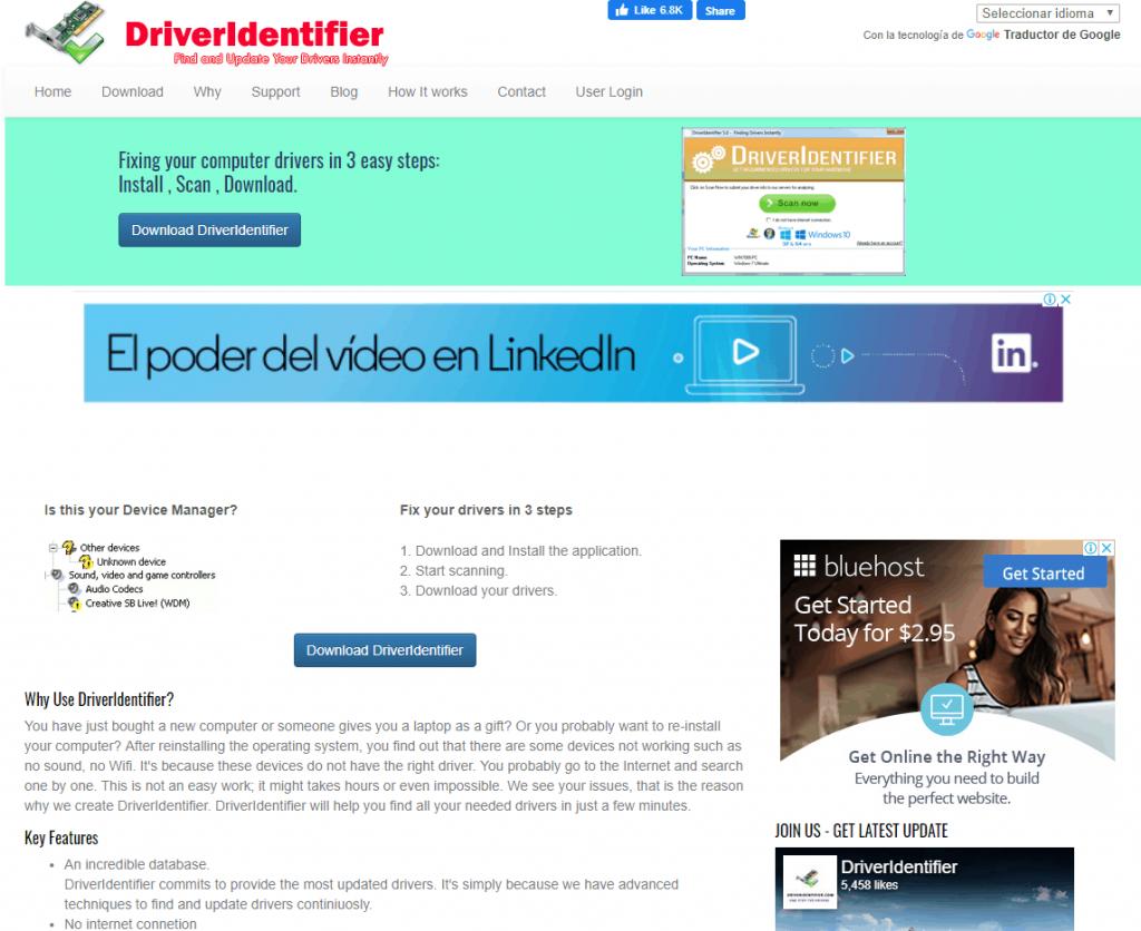 Los drivers se pueden bajar del sitio web del fabricante de la motherboard o de la laptop, o en sitios recomendados de terceros